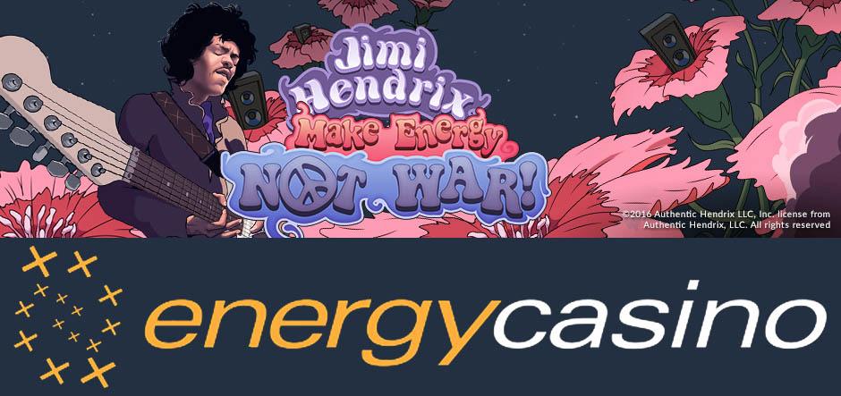 Make Energy not War promo at Energy casino